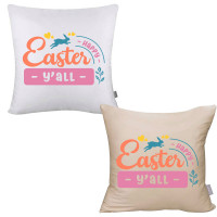 Happy Easter Y'all Pillow Cover