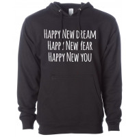 Happy New You Fleece Hoodie