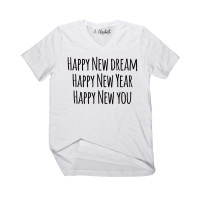 Happy New You V-Neck Template