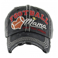 ~SALE~ Football Mama Hat Black