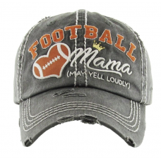 Football Mama Hat Dark Grey