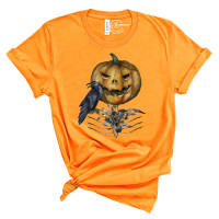Haunted Pumpkin Crew Neck T-Shirt