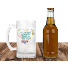 Heart of Gold and Stardust SOUL 16oz Frosted Glass Beer Mug