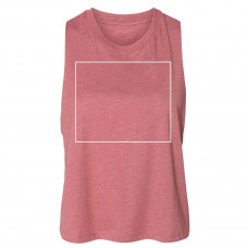 Heather Mauve Women's Racerback Cropped Tank - BYOT