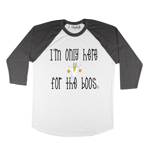 Here For The Boos Raglan