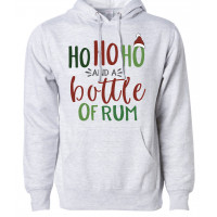 Ho Ho Ho and a Bottle of Rum Fleece Hoodie