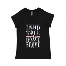 Home of the Brave Curvy Collection V-Neck