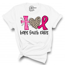 Hope Faith Cure Crew New T-Shirt