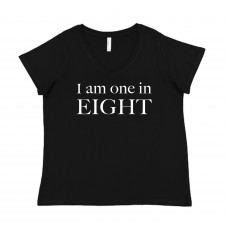 I Am One in Eight Curvy V-Neck - Parental Hope