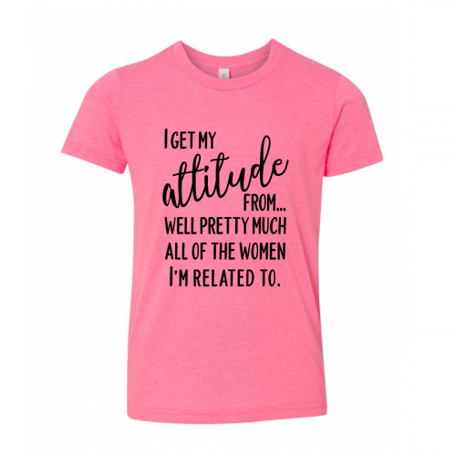 I Get My Attitude From The Women In My Family Youth T-Shirt