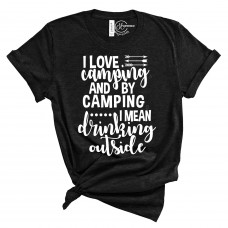 I Love Camping Crew Neck T-Shirt