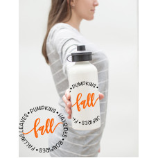 I Love Fall Water Bottle