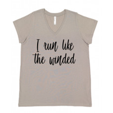 I Run Like The Winded Curvy Collection V-Neck