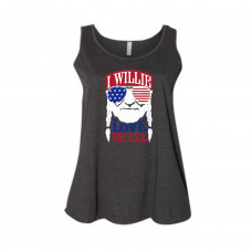I Willie Love the USA Curvy Collection Tank
