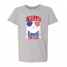 I Willie Love the USA Youth T-Shirt