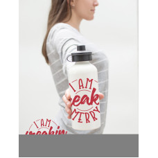I am Freakin Merry Water Bottle Template