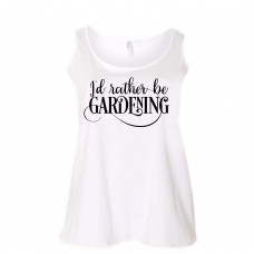 I'd Rather Be Gardening Curvy Collection Tank