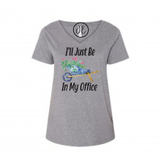 I'll Just Be In My Office Curvy Collection V-Neck