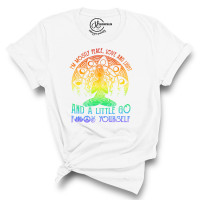 I'm Mostly Peace Love and Light Crew Neck T-Shirt