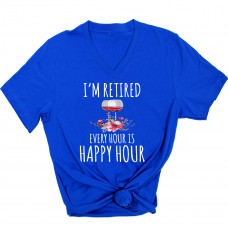 I'm Retired V-Neck T-Shirt