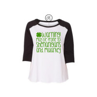 Irish Warning Curvy Collection Raglan