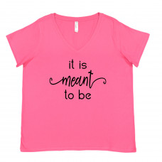 It is Meant to Be Curvy V-Neck - Parental Hope