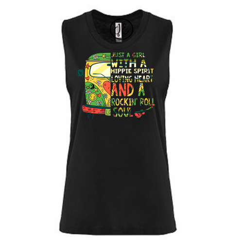 Just a Girl Festival Muscle Tank