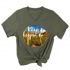 Keep on Keepin On V-Neck T-Shirt