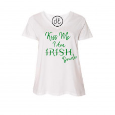Kiss Me I'm Drunk Curvy Collection V-Neck