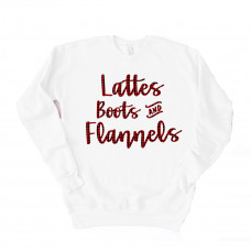 Lattes Boots and Flannels Unisex Drop Sleeve Sweatshirt