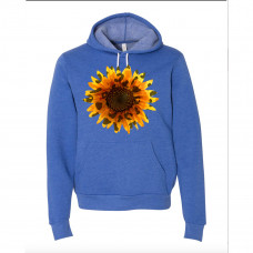 Leopard Sunflower Fleece Hoodie