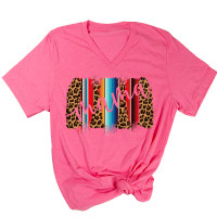 Leopard and Serape Mama V-Neck