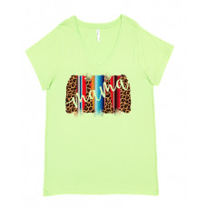 Leopard and Serape Mama Curvy Collection V-Neck