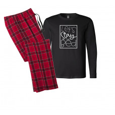 Let's Stay in Bed Long Sleeve Pajama Set