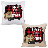 Life is Better at the Cabin Pillow Cover