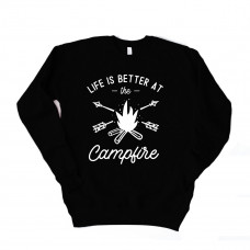 Life is Better at the Camp Fire Unisex Drop Sleeve Sweatshirt