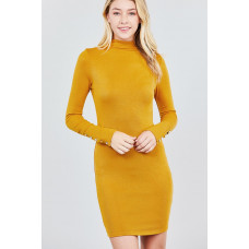 **Long Sleeve Button Knit Mini Dress