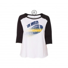 Los Angeles Football Curvy Collection Raglan