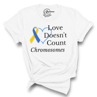 Love Doesn't Count Chromosomes Crew Neck T-Shirt
