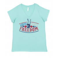 Love Peace Freedom Curvy Collection V-Neck