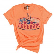 Love Peace Freedom Crew Neck T-Shirt