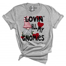 Lovin' All My Gnomies Crew New T-Shirt