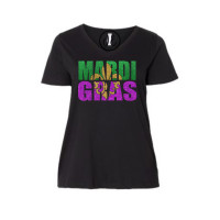 Mardi Gras Curvy Collection V-Neck