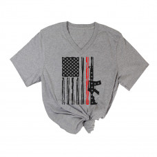 Marines Flag V-Neck