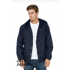 Men's Hooded Coach's Jacket - Bell + Canvas
