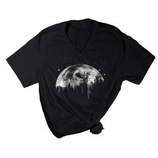Midnight Moon V-Neck T-Shirt