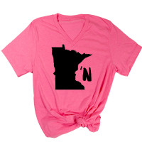 Minnesota'n V-Neck T-Shirt