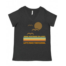 Mistakes are Birds Curvy Collection V-Neck
