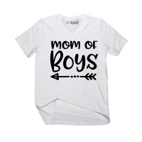 Mom Of Boys V-Neck