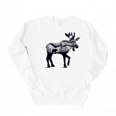 Moose In Nature Unisex Drop Sleeve Sweatshirt